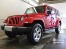 Used 2014 Jeep Wrangler Unlimited SAHARA/ 4 DOOR/ GPS NAVIGATION/ 6 SPEED/ GOLD PLAN SERVICE CONTRACT for sale in Edmonton, AB