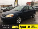 Used 2003 Toyota Corolla LE/ PRICED FOR A QUICK SALE! for sale in Kitchener, ON
