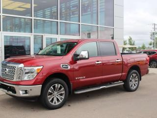 Used 2017 Nissan Titan SL / 4X4 / V8 / BACKUP CAM / POWER SLIDING REAR WINDOW / HEATED SEATS / NAV for sale in Edmonton, AB