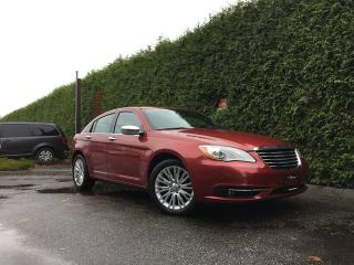 Used 2013 Chrysler 200 Limited + SUNROOF + LEATHER HEATED FT SEATS + UCONNECT 430 TOUCHSCREEN + 18
