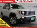 Used 2016 Jeep Renegade North| BACK UP CAMERA| LOW KM'S| TOUCH SCREEN| for sale in Burlington, ON