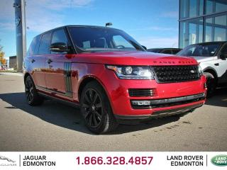 Used 2017 Land Rover Range Rover 5.0 Supercharged Black Pack - CPO 6yr/160000kms manufacturer warranty included until March 21, 2023! CPO rates starting at 2.9%! Local One Owner Trade In | No Accidents | 3M Protection Applied | Navigation | Front/Rear Camera | Parking Sensors | Park Assi for sale in Edmonton, AB