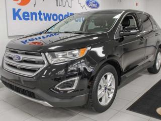 Used 2017 Ford Edge SEL AWD ecoboost with NAV, sunroof, heated power leather seats, power 3rd row seats, keyless entry and a back up cam for sale in Edmonton, AB