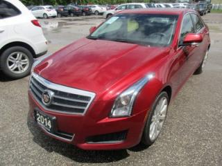Used 2014 Cadillac ATS LOADED AWD 5 PASSENGER 2.0L - TURBO ENGINE.. LEATHER.. HEATED SEATS.. POWER SUNROOF.. NAVIGATION.. PREMIUM BOSE.. for sale in Bradford, ON