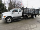 Used 2013 Ford F-650 Extended Cab diesel with custom 18 ft flat deck for sale in Richmond Hill, ON