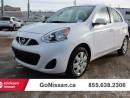 Used 2016 Nissan Micra SV 4dr Hatchback for sale in Edmonton, AB