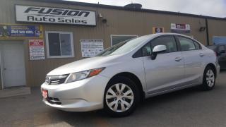 Used 2012 Honda Civic LX-OFF LEASE HONDA FINANCIAL-LOADED for sale in Tilbury, ON