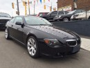 Used 2007 BMW 6 Series 650i-CERTIFIED-NAVIGATION-PANO ROOF-EASY LOANS for sale in York, ON