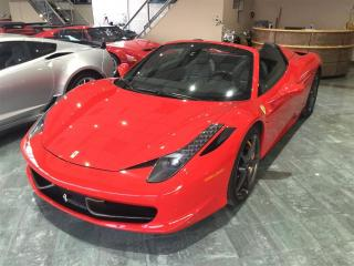 Used 2014 Ferrari 458 ITALIA 458 SPIDER F1 - CARBON FIBER PKG for sale in Etobicoke, ON