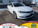 Used 2016 Chrysler 200 NAV | ONE OWNER | ACCIDENT FREE | MOONROOF for sale in London, ON