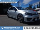 New 2017 Volkswagen Golf R 2.0 TSI LEATHER UPHOLSTERY, STEERING WHEEL MOUNTED AUDIO CONTROLS & RAIN SENSING WIPERS for sale in Surrey, BC