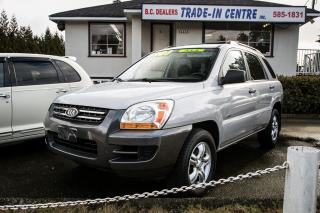Used 2007 Kia Sportage LX 4WD, Alloy Wheels, Keyless Entry, No Accidents! for sale in Surrey, BC