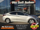 Used 2016 Hyundai Elantra SE *PWR LOCKS * PWR MIRRORS *LOW KM *ECO MODE for sale in Winnipeg, MB