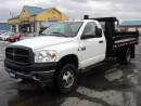 Used 2007 Dodge Ram 3500 ST CabChassis DuallyDiesel 11ft Dump Box for sale in Brantford, ON
