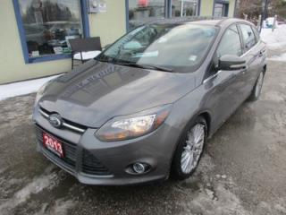Used 2013 Ford Focus LOADED TITANIUM - HATCH MODEL 5 PASSENGER 2.0L - DOHC ENGINE.. LEATHER.. HEATED SEATS.. NAVIGATION.. SUNROOF.. for sale in Bradford, ON