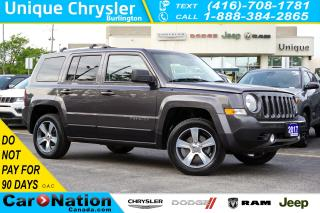 Used 2017 Jeep Patriot HIGH ALTITUDE| 4x4| NAV| LEATHER| SUNROOF for sale in Burlington, ON
