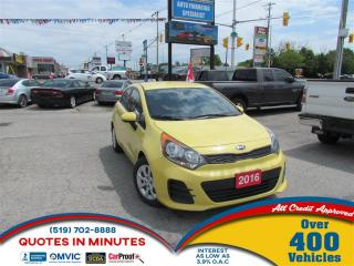 Used 2016 Kia Rio LX | ONE OWNER| BLUETOOTH | SPORTY  | SAT RADIO for sale in London, ON
