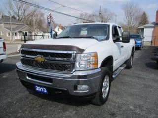 Used 2013 Chevrolet Silverado 3500HD 1 TON DIESEL LT Z71 MODEL 6 PASSENGER 6.6L - DURAMAX.. 4X4.. EXTENDED CAB.. LONG BOX.. CD/AUX INPUT.. KEYLESS ENTRY.. for sale in Bradford, ON
