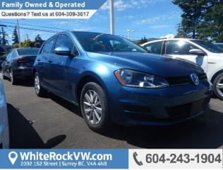 New 2017 Volkswagen Golf 1.8 TSI Trendline MP3 DECODER & BLUETOOTH, REAR PARKING CAMERA & SPOILER for sale in Surrey, BC