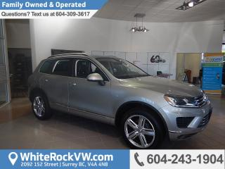 New 2017 Volkswagen Touareg 3.6L Execline BLUETOOTH, HEATED FRONT & REAR SEATS & REAR BACK UP CAMERA for sale in Surrey, BC