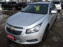 Used 2012 Chevrolet Cruze POWER EQUIPPED LT EDITION 5 PASSENGER 1.4L - TURBO DOHC ENGINE.. CD/AUX INPUT.. KEYLESS ENTRY.. for sale in Bradford, ON
