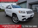 Used 2016 Jeep Grand Cherokee Summit ACCIDENT FREE w/ LEATHER, NAVIGATION & PANORAMIC SUNROOF for sale in Surrey, BC