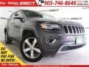 Used 2014 Jeep Grand Cherokee Limited| NAVI| LEATHER| PANO ROOF| DVD| for sale in Burlington, ON