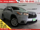 Used 2016 Toyota Highlander LE| AWD| BACK UP CAMERA| TOUCH SCREEN| for sale in Burlington, ON