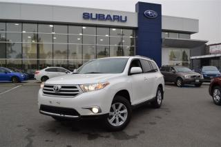 Used 2013 Toyota Highlander V6 (A5) - No Accidents for sale in Port Coquitlam, BC