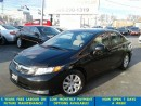 Used 2012 Honda Civic All Power Options/Bluetooth &ABS*$39/wkly for sale in Mississauga, ON