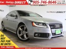 Used 2010 Audi A5 2.0T| AWD| LEATHER| SUNROOF| S-LINE| for sale in Burlington, ON