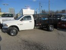 Used 2014 Dodge Ram 3500 Cab & Chassis 4x4 gas with 12 ft flat deck for sale in Richmond Hill, ON