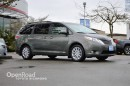 Used 2012 Toyota Sienna Entertainment System, Navi, Leather Interior w/Woodgrain Trim, Power/Heated Front Seats, Bluetooth, for sale in Richmond, BC