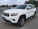 Used 2015 Jeep Grand Cherokee Limited - Dual Pane Sunroof - Loaded for sale in Norwood, ON