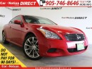 Used 2008 Infiniti G37 Premium| LEATHER| SUNROOF| PUSH START| for sale in Burlington, ON