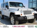Used 2013 Jeep Wrangler Unlimited Sahara - Local Edmonton Trade In | No Accidents | Hard/Soft Top Included | Leather Interior | Heated Front Seats | Navigation | Bluetooth | Running Boards | All Power Options | Low KMs | Great Color Combo | Rare 6 Speed Manual Transmission for sale in Edmonton, AB