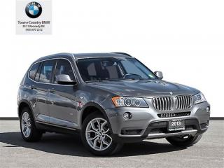 Used 2013 BMW X3 Xdrive28i Executive/Premium for sale in Unionville, ON