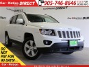 Used 2015 Jeep Compass North| LEATHER-TRIMMED SEATS| TOUCH SCREEN| for sale in Burlington, ON