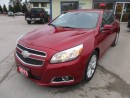 Used 2013 Chevrolet Malibu LOADED LT EDITION 5 PASSENGER 2.5L - ECO-TEC.. LEATHER TRIM.. TOUCH SCREEN.. CD/AUX/USB INPUT.. BLUETOOTH.. for sale in Bradford, ON