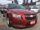 Used 2012 Chevrolet Cruze LT Turbo+ w/1SB Bluetooth AUX Alloys MUST SEE! for sale in Scarborough, ON
