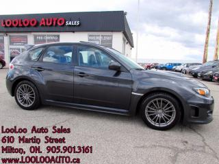 Used 2011 Subaru Impreza WRX LIMITED TURBO 5 SPEED AWD LEATHER SUNROOF CERT for sale in Milton, ON