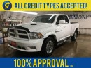 Used 2011 Dodge Ram 1500 SPORT 4WD QUAD CAB HEMI*NAVIGATION*LEATHER SEATS*U CONNECT PHONE*BACK UP CAMERA*FENDER FLARES*TOYO OPEN COUNTRY TIRES*POWER FRONT SEATS* for sale in Cambridge, ON