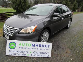 Used 2013 Nissan Sentra SL, NAVI, LEATHER, MOONROOF for sale in Langley, BC