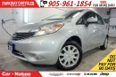 Used 2015 Nissan Versa Note SV|CONVENIENCE PKG| REAR CAM| BLUETOOTH| SIRIUS XM for sale in Mississauga, ON