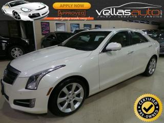 Used 2013 Cadillac ATS 2.0L Turbo 2.0T| NAVI| 6SPEED| PEARL WHITE for sale in Woodbridge, ON