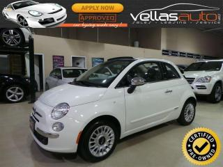 Used 2015 Fiat 500 C Lounge LOUNGE| CONVERTIBLE| LEATHER for sale in Woodbridge, ON