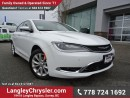 Used 2016 Chrysler 200 C for sale in Surrey, BC