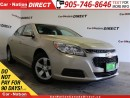 Used 2016 Chevrolet Malibu LT| LEATHER-TRIMMED SEATS| TOUCH SCREEN| for sale in Burlington, ON