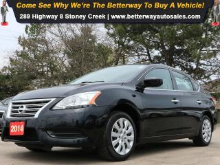 Used 2014 Nissan Sentra S| B-Tooth| Keyless Ent| PWR Options| Gas Saver! for sale in Stoney Creek, ON