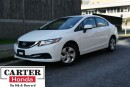 Used 2014 Honda Civic LX + LOCAL + BLUETOOTH + 7YRS/160000KMS CERTIFIED! for sale in Vancouver, BC